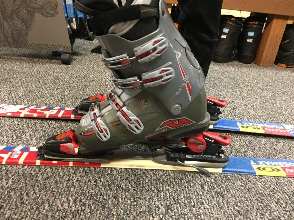 ski boot not fitting in ski binding