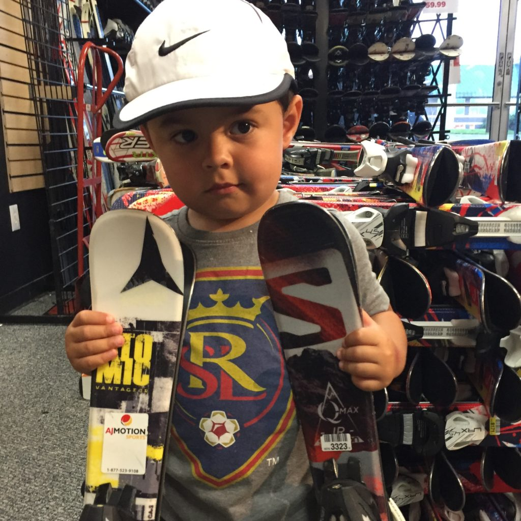 Perfect sized skis for your children